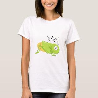 Musical Cricket T-Shirt at Zazzle