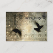 Musical Crows Sheet Business Card