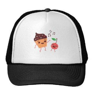 Musical Cupcake and Cherry Trucker Hat