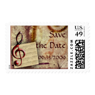 Musical - Customized Postage Stamp