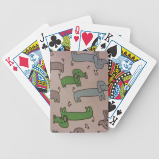 Musical Dachshunds Bicycle Playing Cards