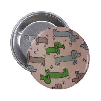 Musical Dachshunds Pinback Button