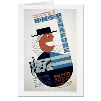 Musical del delantal del HMS WPA 1939 Tarjeta De Felicitación