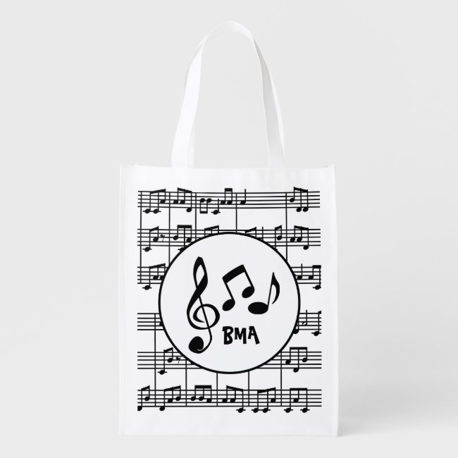Musical Design Reusable Tote