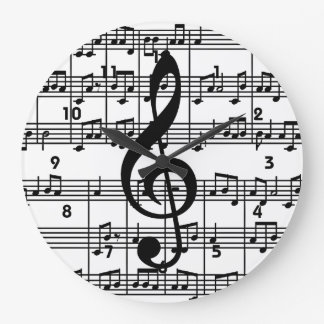 Musical Design Wall Clock
