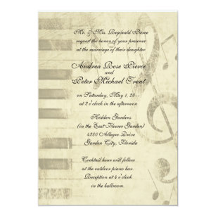 Music Wedding Invitations Announcements Zazzle