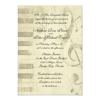 Musical Design Wedding Invitations