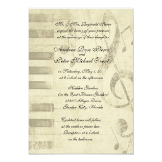 Musical Design Wedding Invitations at Zazzle