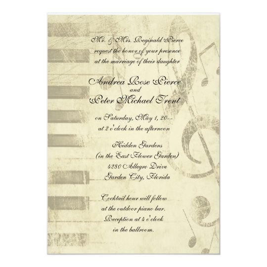 Musical Design Wedding Invitations