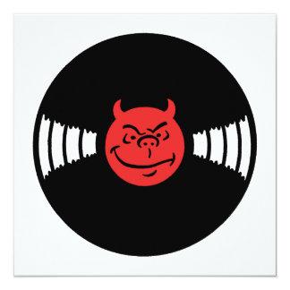 """Musical Devil 5.25"""" Square Invitation Card"""