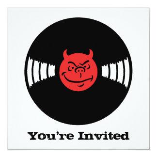 Musical Devil 5.25x5.25 Square Paper Invitation Card