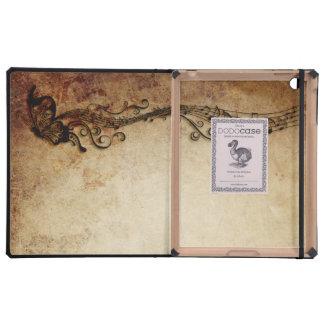 Musical DODOCase de la mariposa del vintage iPad Funda