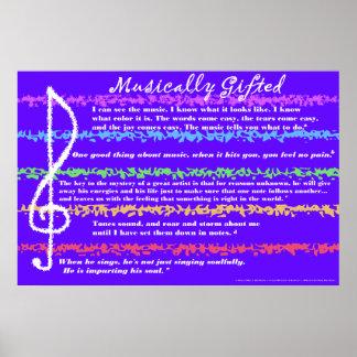 Musical dotado impresiones