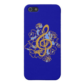 Musical Dragon treble clef peonies IPhone4 Case Cover For iPhone 5