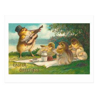 Musical Easter Greetings Postcards