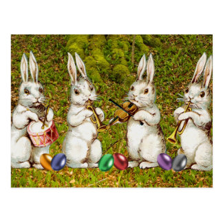 Musical Easter Rabbits Postcard