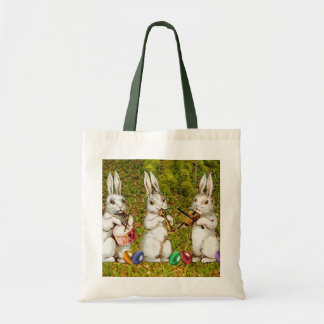 Musical Easter Rabbits Tote Bag