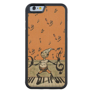 Musical Elf Goblin Piano Music Notes Carved Maple iPhone 6 Bumper Case