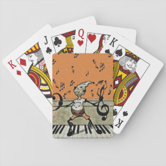 Musical Elf Goblin Piano Music Notes Deck Of Cards