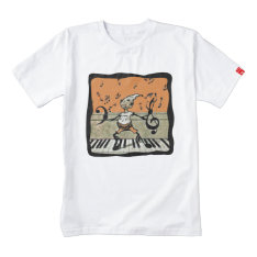 Musical Elf Goblin Piano Music Notes Zazzle Heart T-shirt at Zazzle