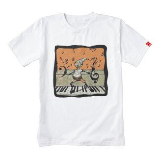 Musical Elf Goblin Piano Music Notes Zazzle HEART T-Shirt