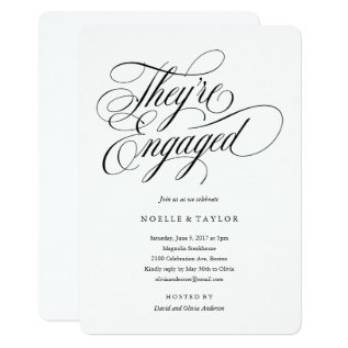 Musical Engagement Party Invitation at Zazzle