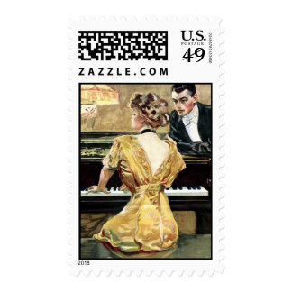 Musical Evening Postage Stamps