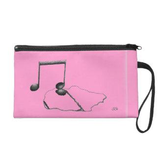 Musical Expression Clutch-Pink Wristlet Purse