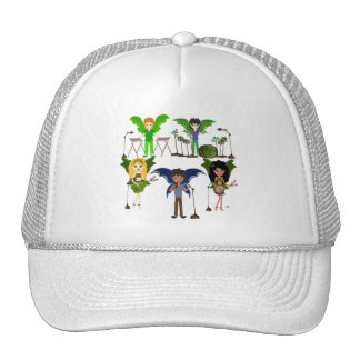 Musical Faerie Band in Enchanting Field Trucker Hat