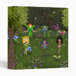 Musical Faerie Band in Enchanting Forest 3 Ring Binders