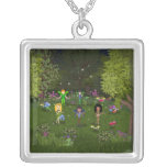 Musical Faerie Band in Enchanting Forest Custom Necklace