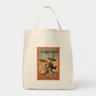 Musical Farce Comedy, The Air Ship Theatre 2 Grocery Tote Bag