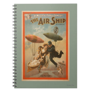 Musical Farce Comedy, The Air Ship Theatre 2 Spiral Notebook