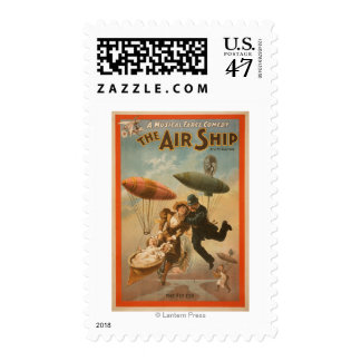 Musical Farce Comedy, The Air Ship Theatre 2 Stamp