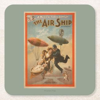 Musical Farce Comedy, The Air Ship Theatre 2 Square Paper Coaster