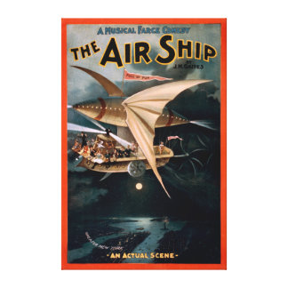 Musical Farce Comedy, The Air Ship Theatre Canvas Print