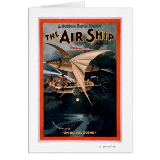 Musical Farce Comedy, The Air Ship Theatre Card