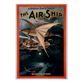 Musical Farce Comedy, The Air Ship Theatre Poster