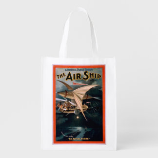Musical Farce Comedy, The Air Ship Theatre Reusable Grocery Bag