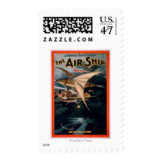 Musical Farce Comedy, The Air Ship Theatre Stamp