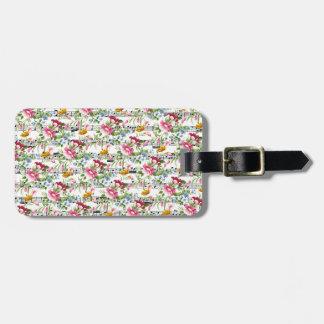Musical Floral Bag Tag