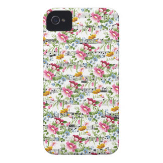 Musical Floral iPhone 4 Cover