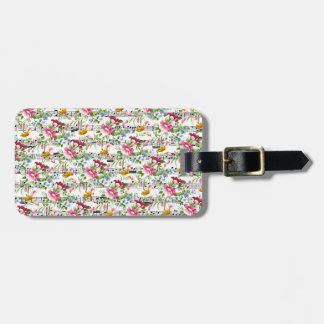 Musical Floral Travel Bag Tags