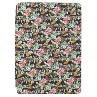 Musical Flower Bouquets on Black iPad Air Cover