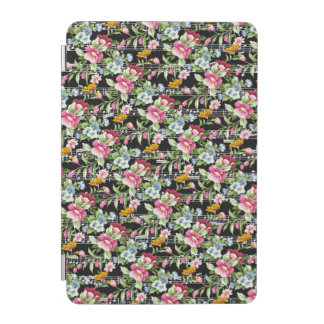Musical Flower Bouquets on Black iPad Mini Cover