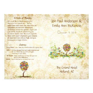 Musical Flower Tree Wedding Program