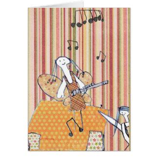 Musical flute fairy greeting card