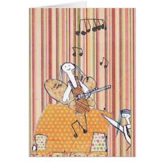 Musical flute fairy greeting card