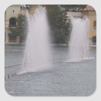 MUSICAL Fountains New LAS VEGAS Canal Buildings Square Stickers