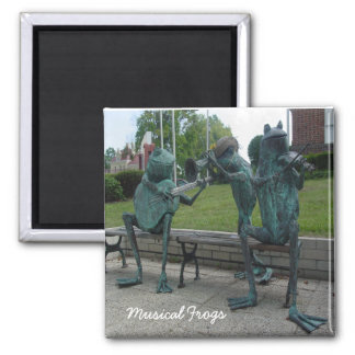 Musical Frogs 2 Inch Square Magnet